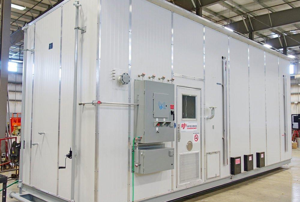 24″ x 8′ s/s vertical mistex separator / metering package / 34,500 liter tank combo