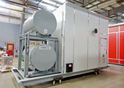 """""""30″ x 10′ s/s 600# / (2) 500 gal Tanks / Separator / Metering Package"""""""