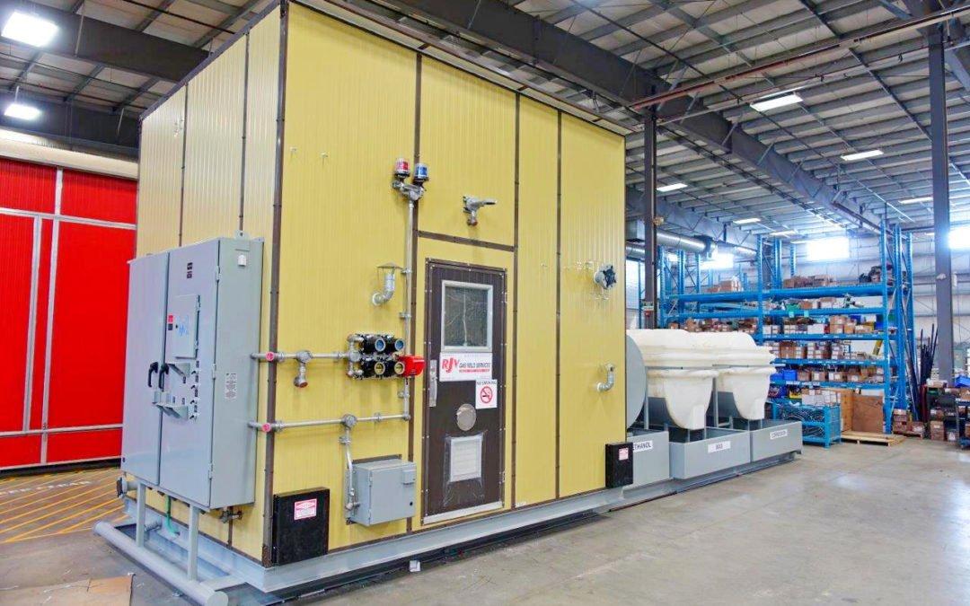 24″ x 8′ s/s vertical mistex separator / metering package / (3) 500 Gal. Storage Tanks